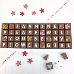 Personalised 'Please Will You Be My Flower Girl' Chocolates