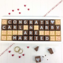 Personalised 'You Are Married' Chocolates