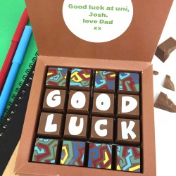 Personalised 'Good Luck' Message Chocolates