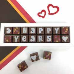 Personalised 'Happy Years' Anniversary Chocolates