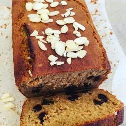 Sour Cherry & Almond Loaf (Vegan, Gluten Free, Refined Sugar Free)