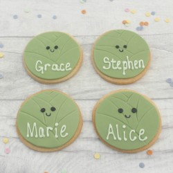 Sprouts Themed Novelty Christmas Party Cookie Favours