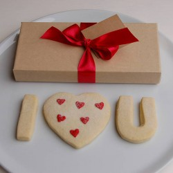 Valentines 'I Love You' Shortbread