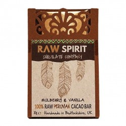 Mulberries & Vanilla 100% Dark Raw Peruvian Cacao Bars