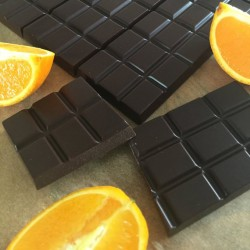 Raw Chocolate Bars with Orange