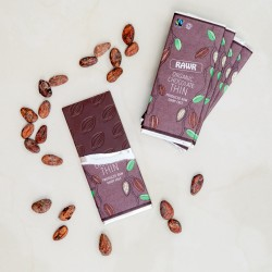 Raw 68% Cacao THIN Chocolate Bars - Organic, Fairtrade (5 bars)