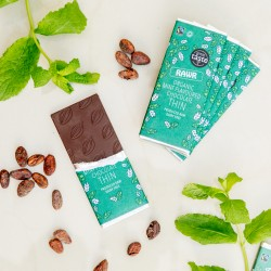 Raw Mint THIN Chocolate Bars - Organic, Fairtrade (5 bars)