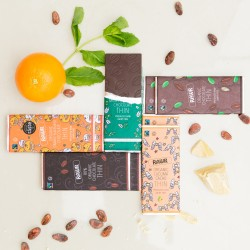 Raw THIN Chocolate Bar Collection - Organic, Fairtrade (5 bars)