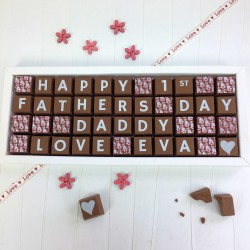 Personalised 1st Fathers Day Chocolates