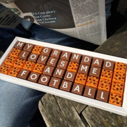 Personalised My [Grandad] Loves Me and [Football] Chocolates