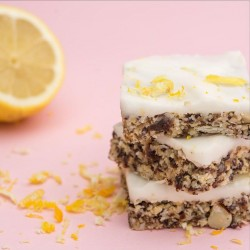 Raw Bake Lemon & Nut Slice