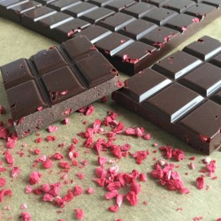Raw Chocolate Bars with Raspberry