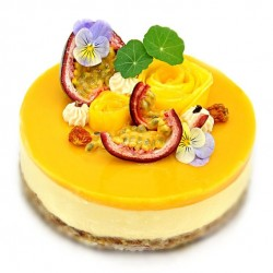 Raw Mango & Passion Fruit Cake