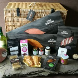 A Really Welsh Luxury Christmas Larder Wicker Hamper