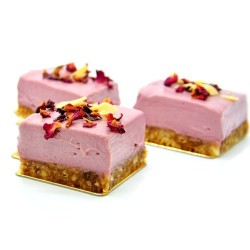 Raw Rose Cream Cakes