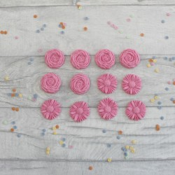 Buttercream Style Edible Fondant Cupcake Flowers