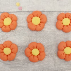 Edible Fondant Flower Cupcake Toppers