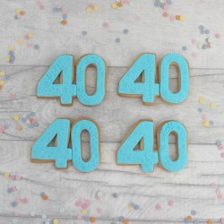 Milestone Birthday Shaped Cookies