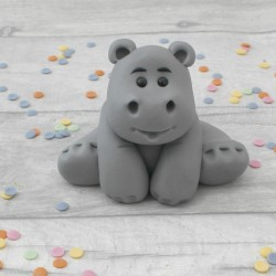 Edible hippo cake topper