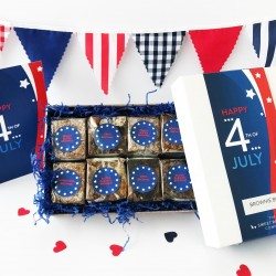 'Happy 4th of July' Gluten Free Brownie Box