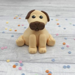 Edible Pug Cake Topper
