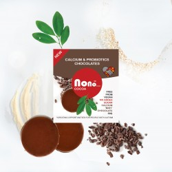 Nono Cocoa Chocolate Snacks - 'Milky' Sugar Free - Calcium & Probiotic (Multipack)