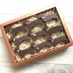 24carat Gold Dachshunds - Dairy Free Milk Chocolate