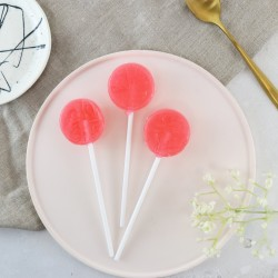 Alcoholic Raspberry Prosecco Liqueur Lollipops
