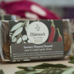 Flaxseed Rounds Paprika Savoury Biscuits (Vegan, Gluten Free) - 4 pack