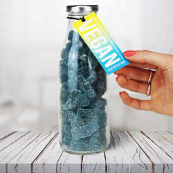 Vegan Blue Raspberry Gummy Sweets Bottle