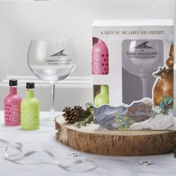 Balloon Glass Gift Pack with Lakes Gin Liqueurs