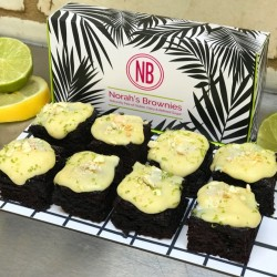 Gin & Tonic Vegan Brownies