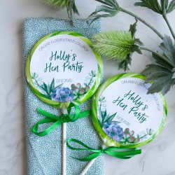 Personalised Succulent Hen Party Giant Lollipops