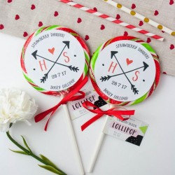 Personalised Initials Wedding Favour Giant Lollipops