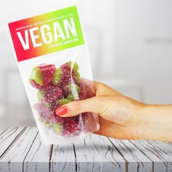 Vegan Strawberry Gummy Sweets Pouches (Pack of 5)