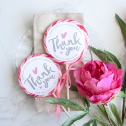Personalised Thank You Wedding Favour Giant Lollipops
