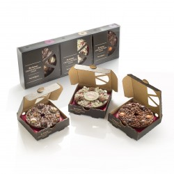 Mini Christmas Tipples Chocolate Pizza Gift Pack