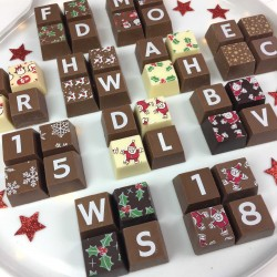 Personalised Christmas chocolate Favours