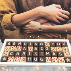 'Sending You a Big Christmas Hug' Christmas Chocolates