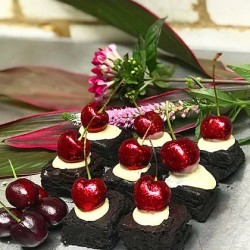 Glitter Cherry Bombs Brownies (Free From)