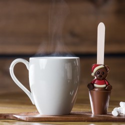 Set of 3 Christmas Teddy Hot Chocolate Spoons