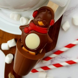 Set of 3 Penguin Christmas Hot Chocolate Spoons
