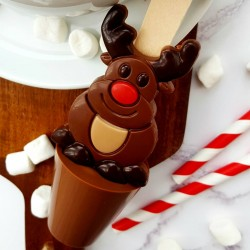 Set of 3 Christmas Rudolph Hot Chocolate Spoons
