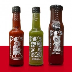 Pips Hot Sauces Taster 3 Pack