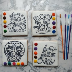 Halloween Paint Your Own cookies