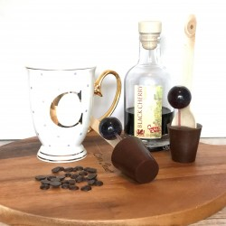 Three Dairy Free Hot Chocolate Stirrers with Cherry Brandy