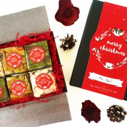 Christmas Vegan Brownie Gift Box