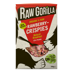 Vegan Raw Rawberry Crispies Breakfast Cereal