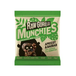 Raw Baobab, Apricot & Tigernut Munchies Snacks (Multipack)
