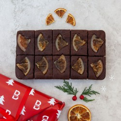 Christmas Candied Orange Brownies - serves 10 (Gluten Free)